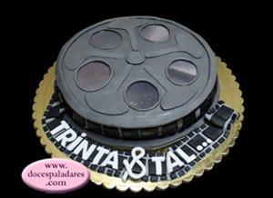 cinema bolo aniversário