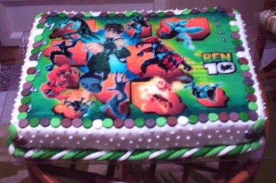 bolos de aniversário ben 10